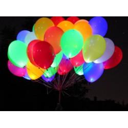 Светящиеся шары с гелием (12''/30 см), белое свечение с выключателем