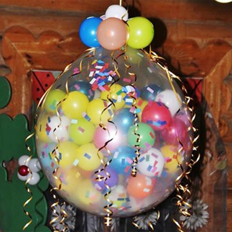 Большой шар сюрприз своими руками