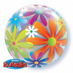 Шар Bubbles fanciful flowers (22''/56 см)