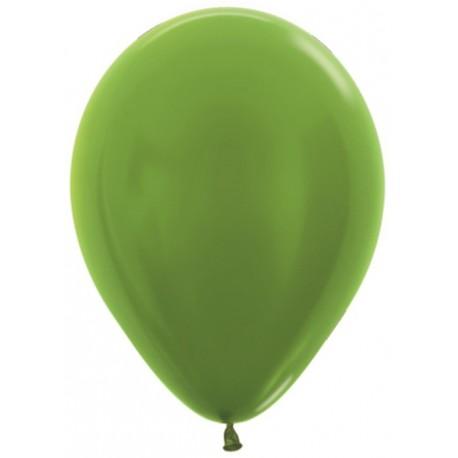 Шар с гелием (12''/30 см) Лайм (Lime Green-531) Металлик