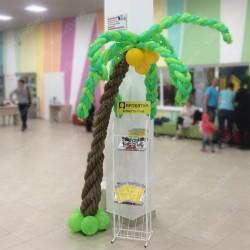 Плетеная пальма из шаров 2,5 м.