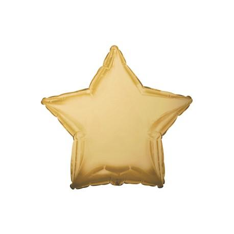 Шар фольгированный Звезда (16''/40 см), античное золото