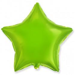 Шар фольгированный Звезда (16''/40 см), лайм