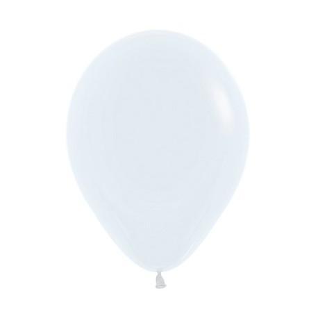 Шар с гелием (12''/30 см) Белый (White-005)