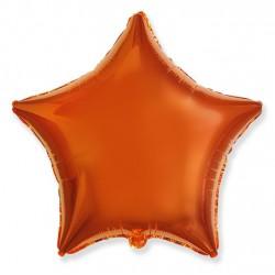 Шар фольгированный Звезда (16''/40 см), оранжевый