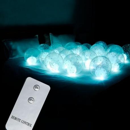 Светодиодные воздушные шары с пультом на кровать