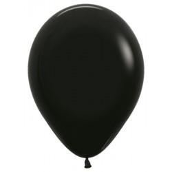 Шар с гелием (12''/30 см) Черный, яркий непрозрачный