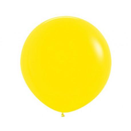 Шар с гелием (32''/80 см) Желтый, яркий непрозрачный