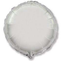 Шар фольгированный Круг (16''/40 см), Серебро