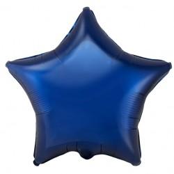 Шар фольгированный Звезда (16''/40 см), темно-синий