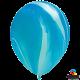 Шар с гелием (11''/28 см) голубая радуга, Супер Агат