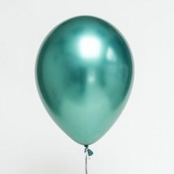 Шар с гелием (11''/28 см) Зеленый, хром