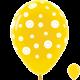 Гелиевые шары (12''/30 см) Смайлы, желтые