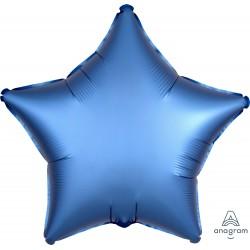 Шар фольгированный Звезда (16''/40 см), Лазурный сатин