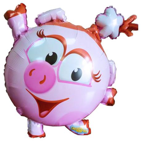 """Фольгированный шар """"Нюша"""" Смешарики (55х66 см)"""