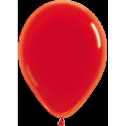 Шар с гелием (12''/30 см) Красный, кристалл