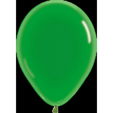 Шар с гелием (12''/30 см) Зеленый, кристалл