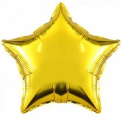 Шар фольгированный Звезда (24''/61 см), Золото
