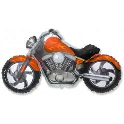 """Шар фольгированный """"Мотоцикл"""" оранжевый (32''/81 см)"""