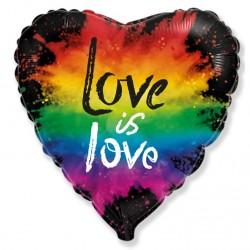 """Шар фольгированный  Сердце (16''/40 см) """"Любовь. Яркие краски"""""""