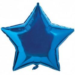 Шар фольгированный Звезда (24''/61 см), синий