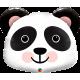 Шар фольгированный Панда голова (24''/61 см)