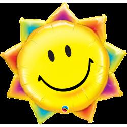 Шар фольгированный Солнце смайл (27''/69 см)