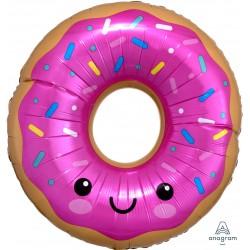 """Шар фольгированный """"Пончик в розовой глазури"""" (27''/68 см)"""