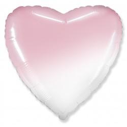 Шар фольгированный Сердце (16''/40 см), розовый градиент