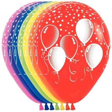 Гелиевые шары (12''/30 см) Праздничные шары, ассорти