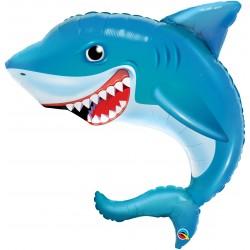 """Шар фольгированный """"Улыбающаяся акула"""" (31''/79 см)"""