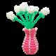 Корзина с розами из воздушных шаров