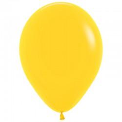 Шар с гелием (12''/30 см) Желтый, яркий непрозрачный