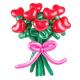 Цветы сердца из воздушных шаров (за 1 шт.)