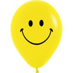 Гелиевые шары (12''/30 см) Смайл, желтый