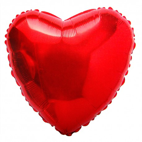 Шар фольгированный Сердце (16''/40 см), Красный