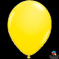 Шар с гелием (11''/28 см) Желтый, яркий непрозрачный