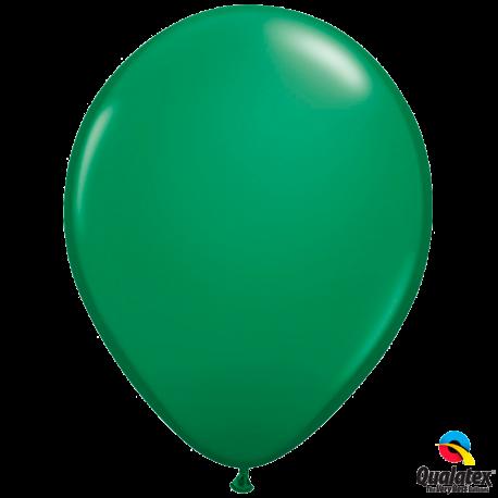 Шар с гелием (11''/28 см) Зеленый, яркий непрозрачный