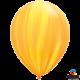 Шар с гелием (11''/28 см) желто-оранжевая радуга, Супер Агат