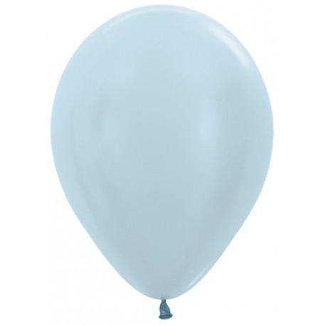 Шар с гелием (12''/30 см) Голубой, сатин