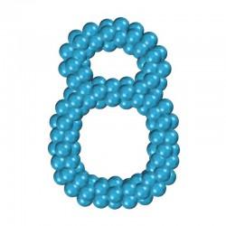Цифра 8 из воздушных шаров каркасная