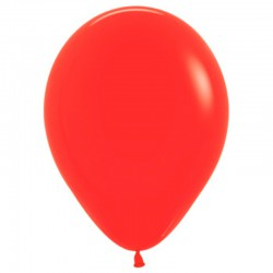 Шар с гелием (15''/38 см) Красный, яркий непрозрачный