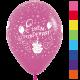 Шары с гелием (12''/30 см) C Днем рождения, торт, ассорти