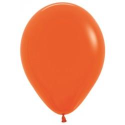 Шар с гелием (15''/38 см) Оранжевый, яркий непрозрачный
