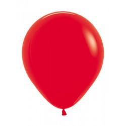 Шар с гелием (18''/45 см) Красный, яркий непрозрачный