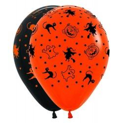 Гелиевые шары (12''/30 см) Хэллоуин