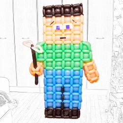 Фигура персонажа из компьютерной игры Minecraft