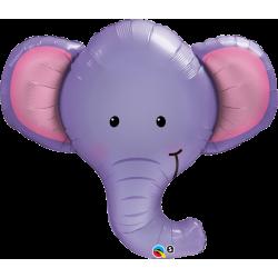 Шар фольгированный Слоненок голова (39''/99 см)